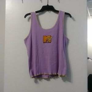Purple MTV Cropped-like Tank